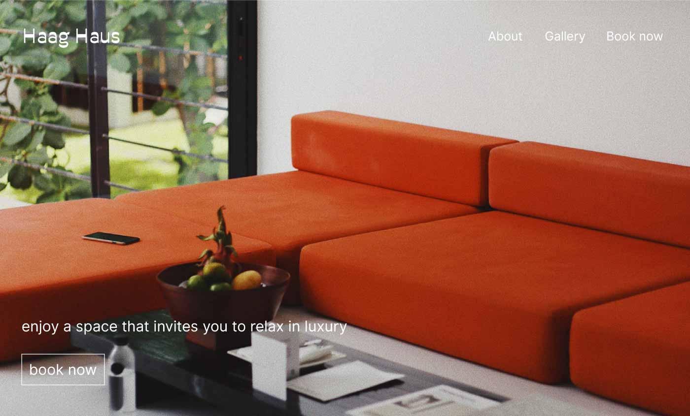 vacation rental website example