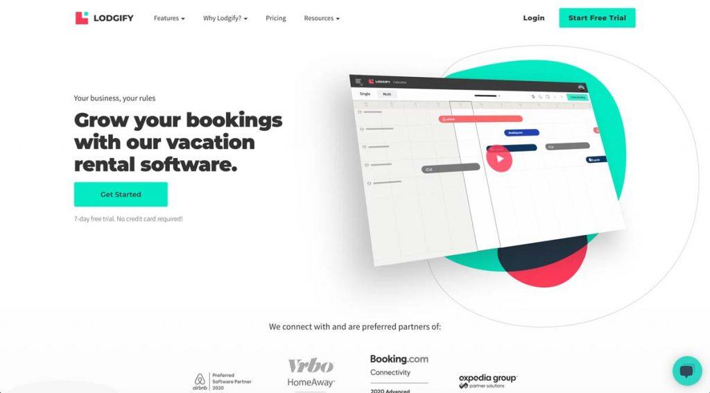 Lodgify Vacation Rental Website Builder - Homepage