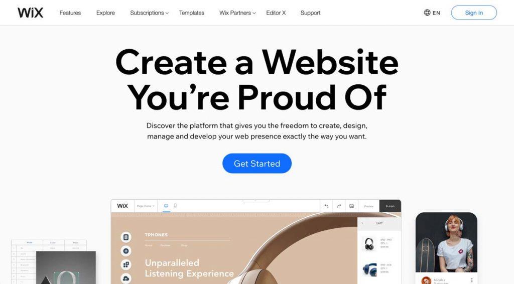 Wix Website Builder (for Vacation Rentals)