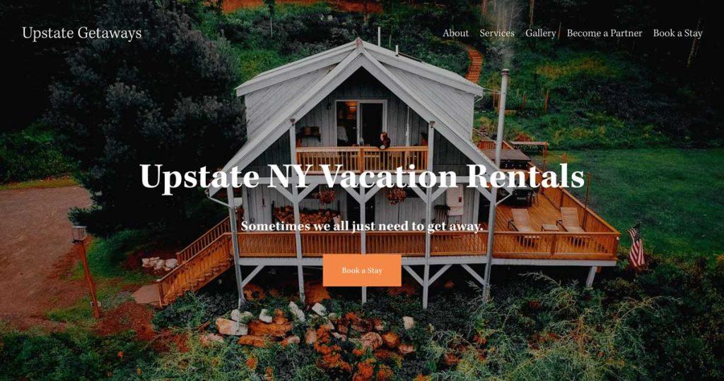Upstate Getaways - Squarespace Vacation Rental / Property Management Website