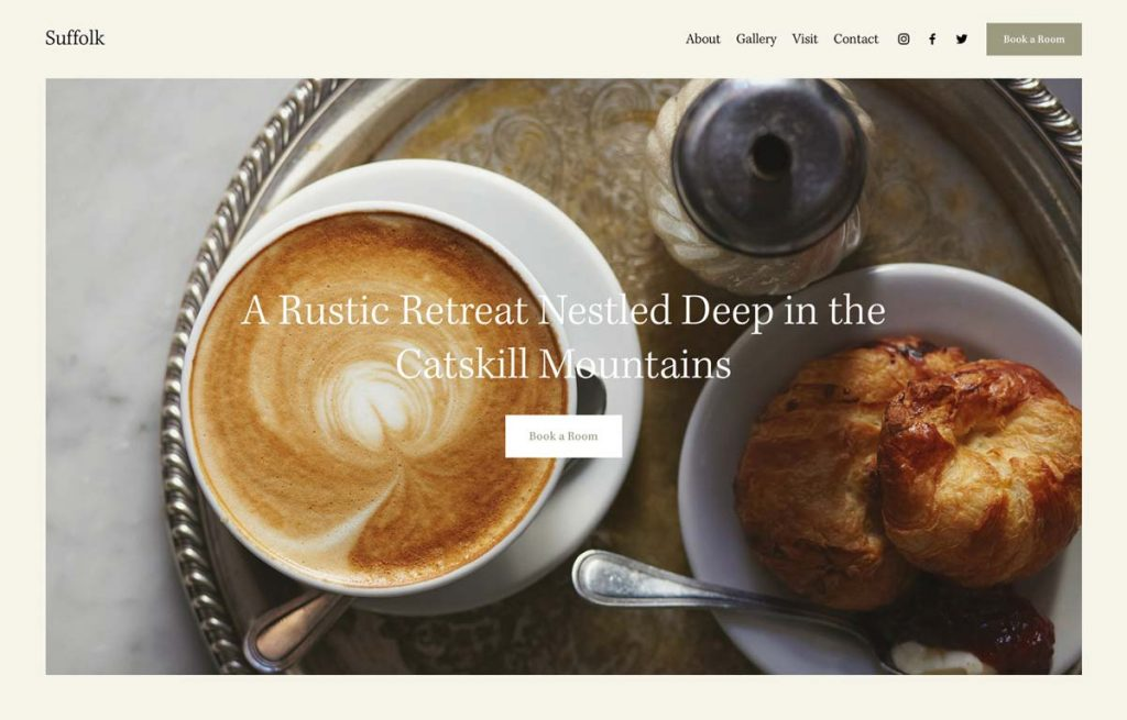 Squarespace Vacation Rental Website Template - Suffolk