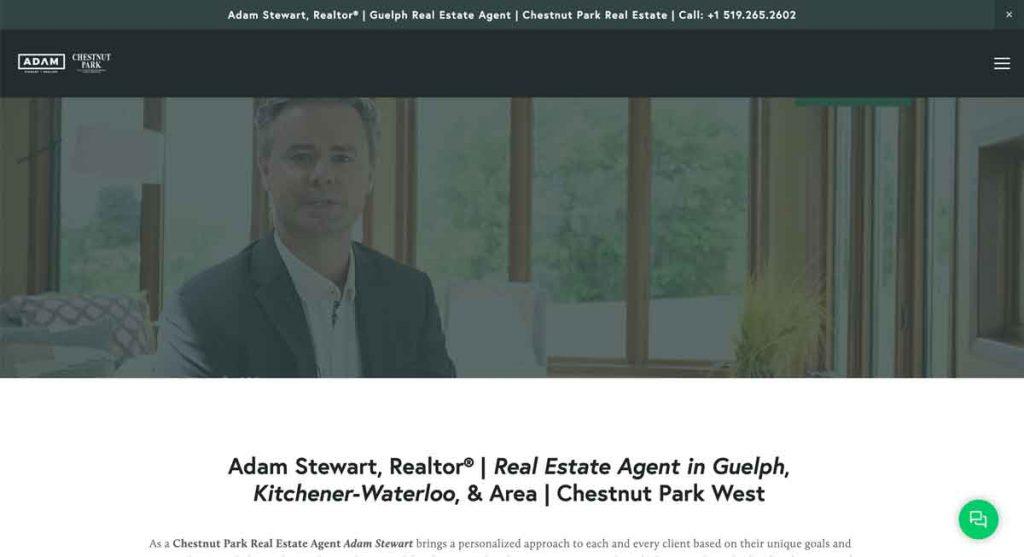 Adam Stewart - Squarespace Real Estate Website