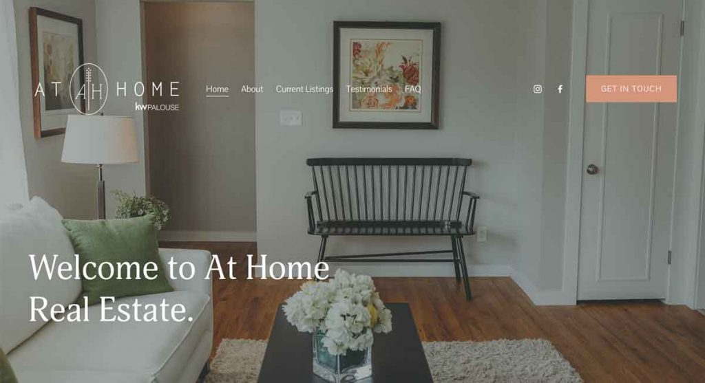 At Home - Squarespace Real Estate Website