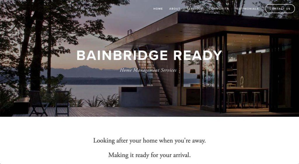Bainbridge Ready Home Management Services - Squarespace website