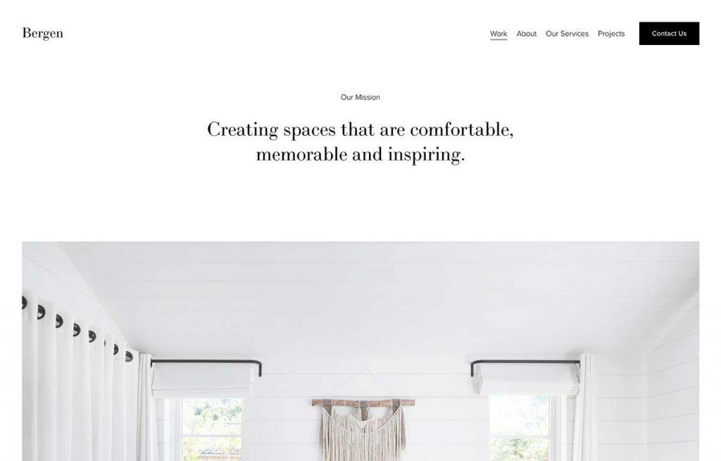 Bergen - Real Estate & Interior Design Squarespace Template