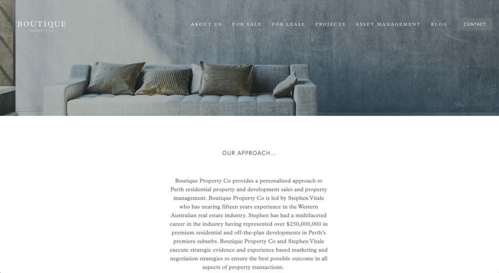 Boutique Property Co. - Squarespace website