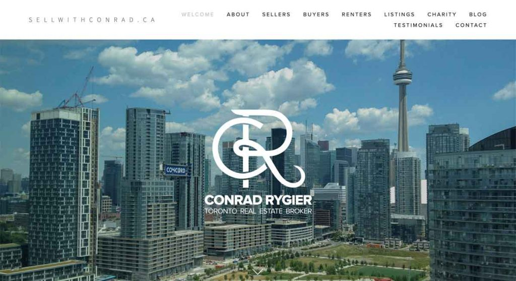 Conrad Rygier - Squarespace Real Estate website