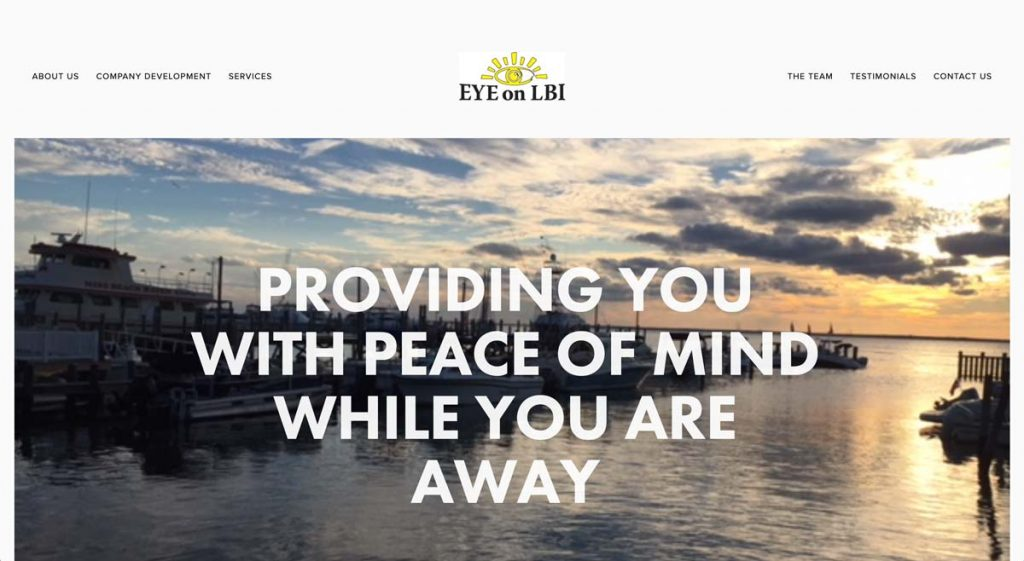Eye on LBI - Squarespace Property Management website