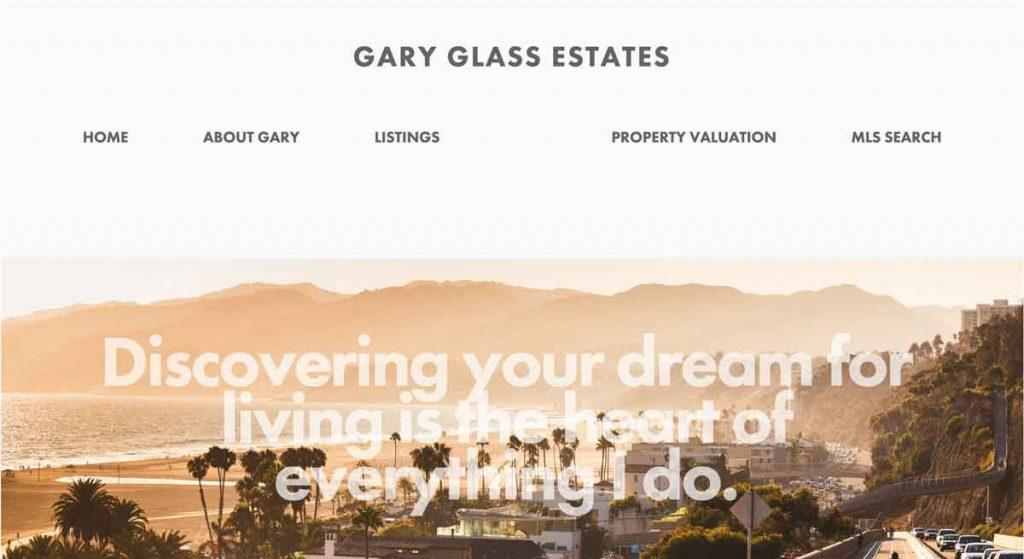 Gary Glass Estates - Squarespace Real Estate website