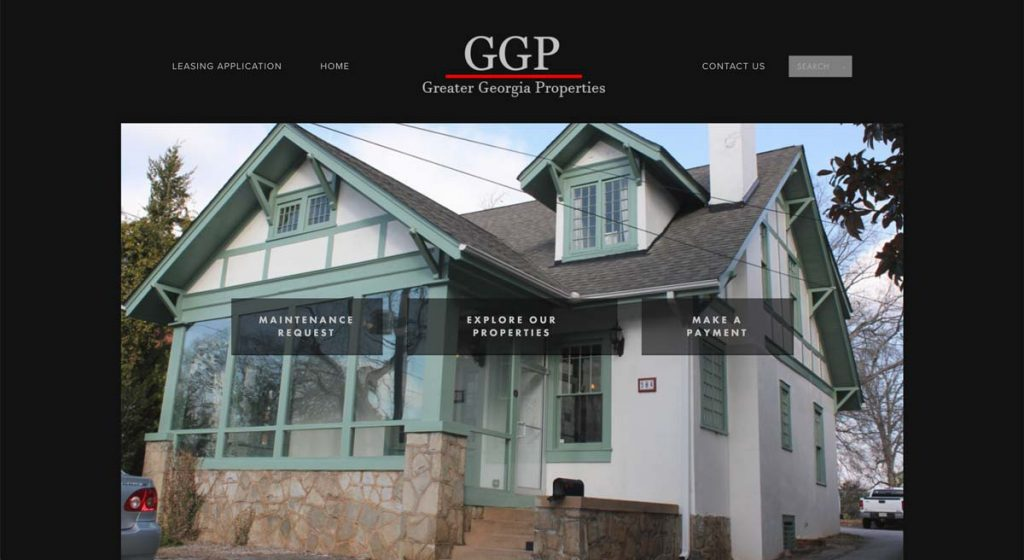 Greater Georgia Properties (GGP) - Squarespace Property Management website