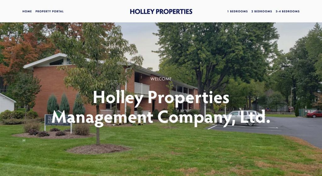 Holley Properties Management Company - Squarespace website