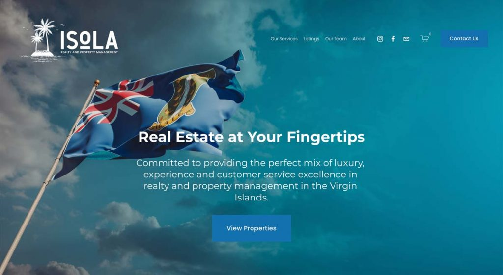 Isola Realty & Property Management - Squarespace website