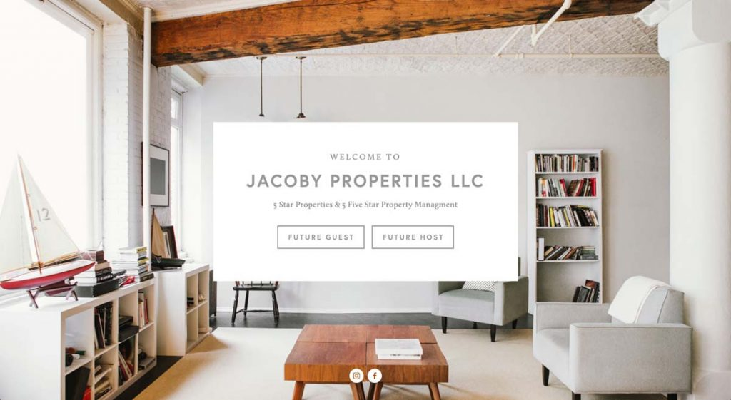 Jacoby Properties LLC - Squarespace Property Management website