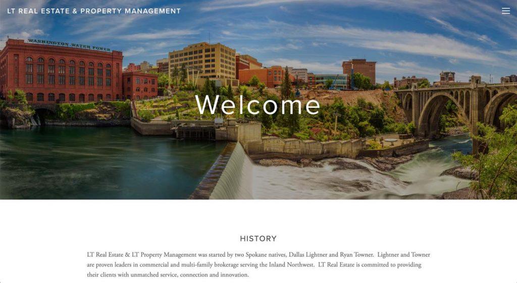 LT Real Estate & Property Management - Squarespace website