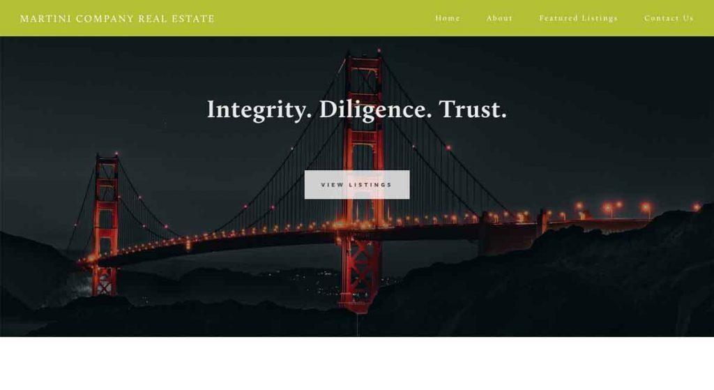 Martini Company - Squarespace Real Estate Website