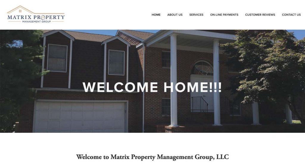 Matrix Property Management Group - Squarespace website