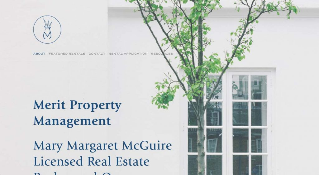 Merit Property Management - Squarespace website
