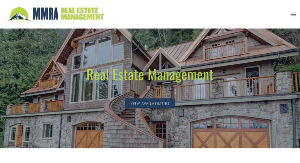 MMRA Real Estate Management - Squarespace website