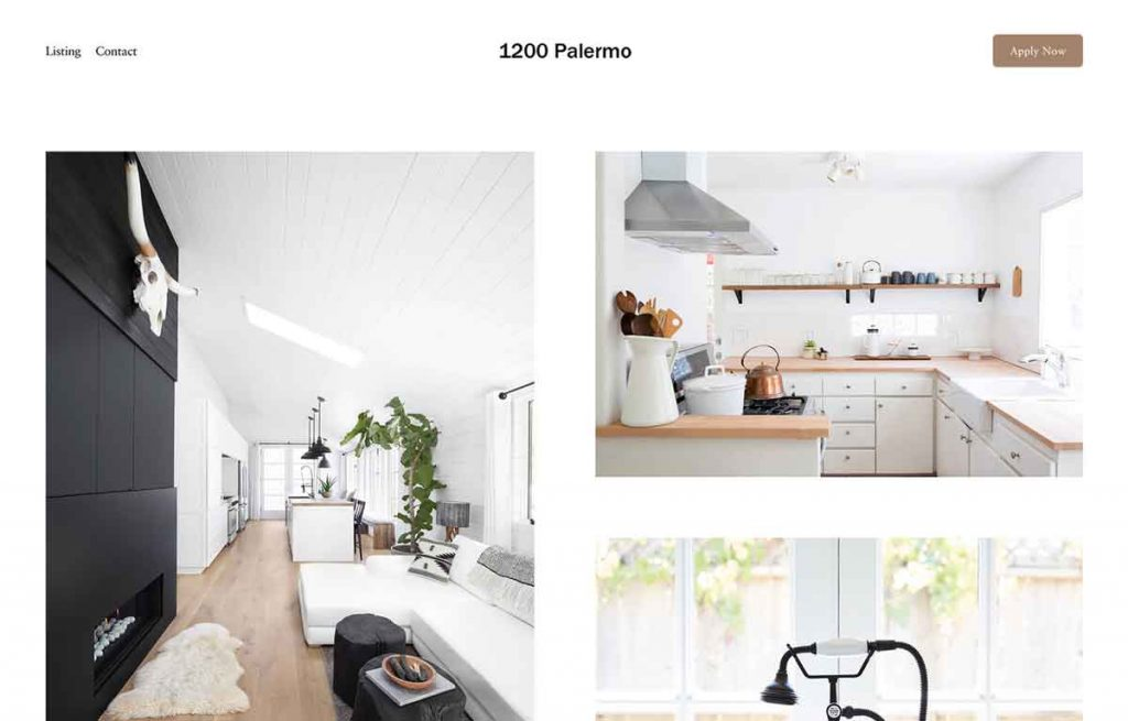 Palermo Squarespace Template - Real Estate Listings