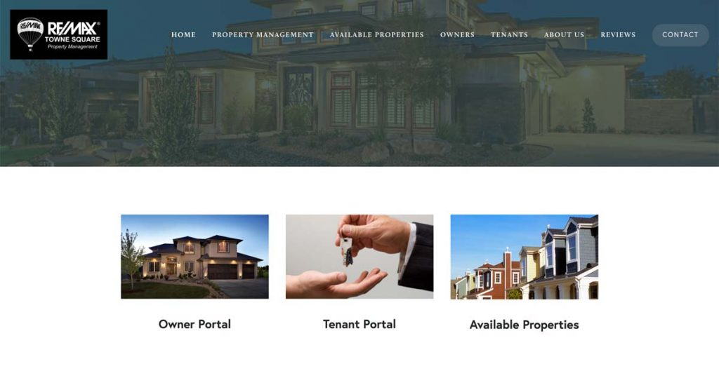 RMTS Property Management - Squarespace website