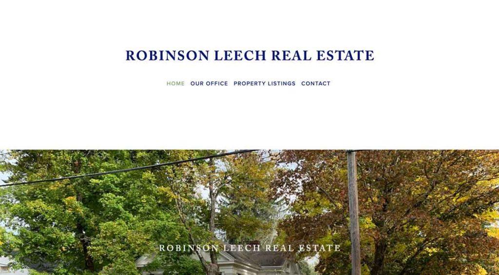 Robinson Leech - Squarespace Real Estate Website