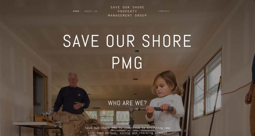 Save Our Shore Property Management Group - Squarespace website