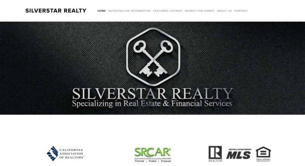 Silverstar Realty - Squarespace Real Estate website