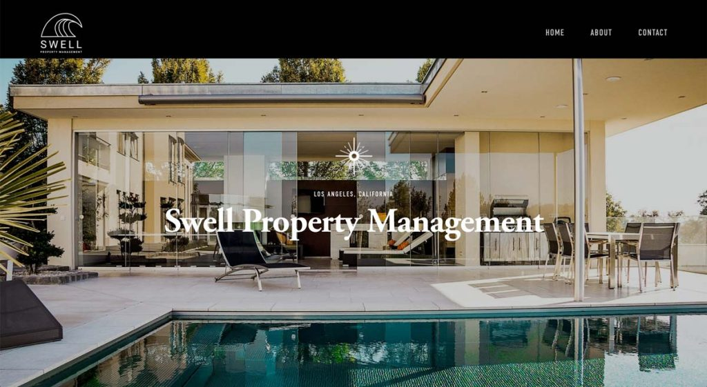 Swell Property Management - Squarespace website