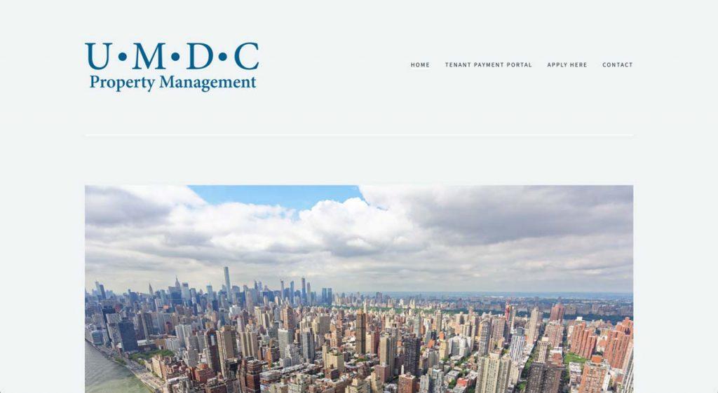 UMDC Property Management - Squarespace website