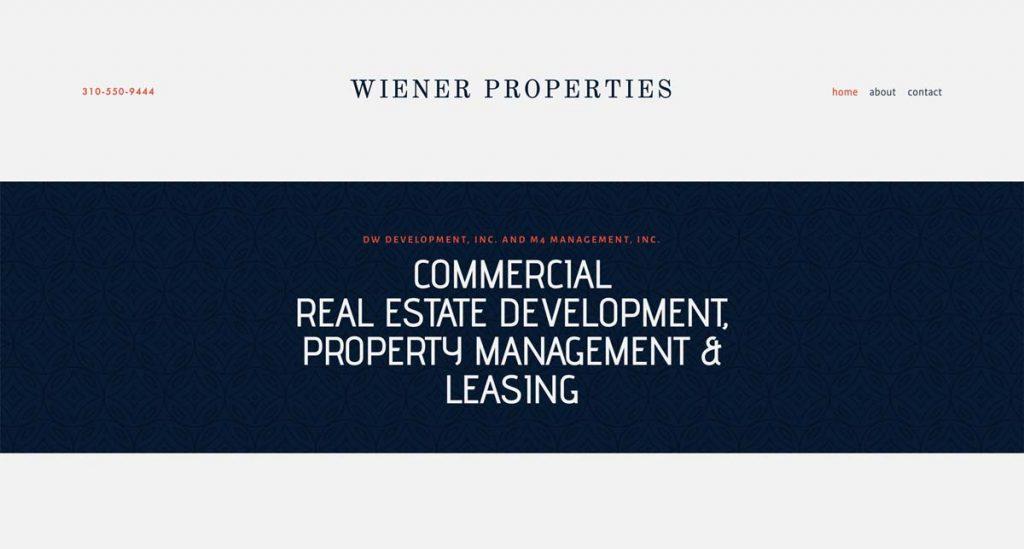 Wiener Properties - Squarespace website
